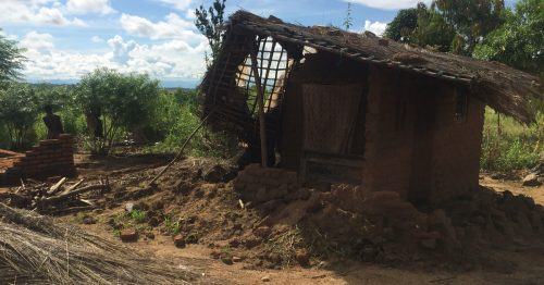 House destroyed by Cyclone Idai in Malawi