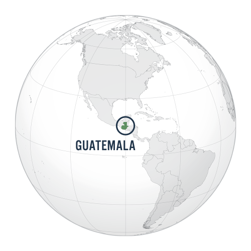 Guatemala location globe