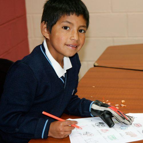 Boy at Moises Project Ecuador