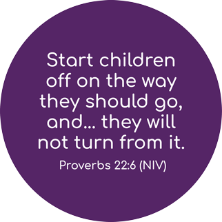 Start children off on the way they should go and they will not turn from it