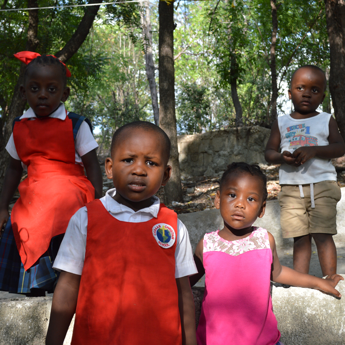 Group of orphan children