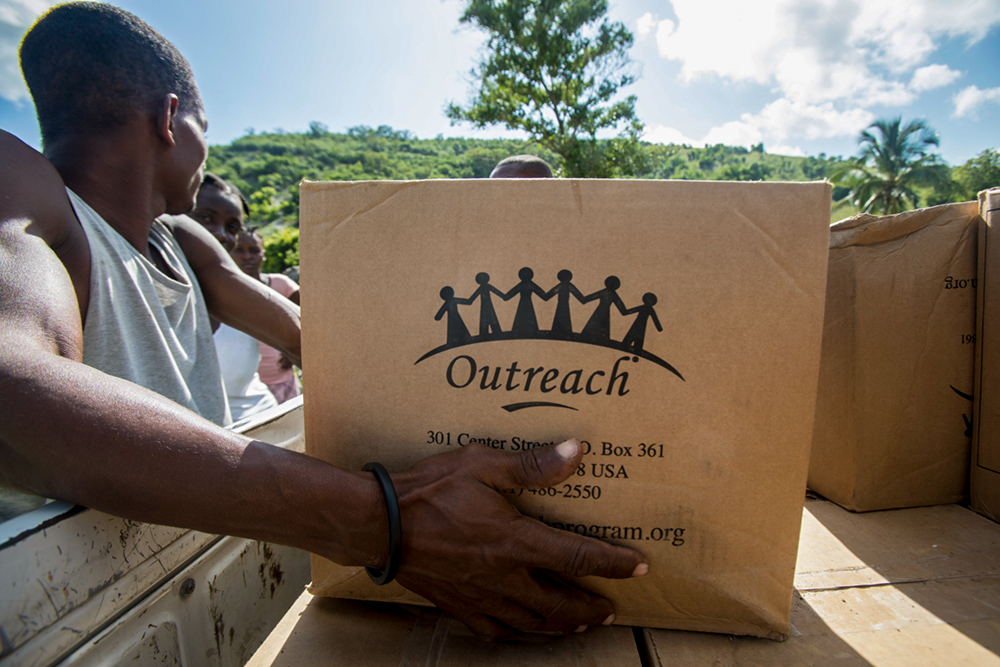 Boxes of protein enriched rice shipped to Haiti