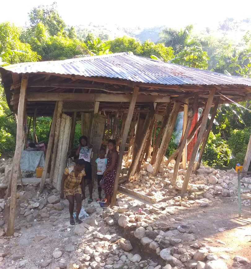 This MEBSH school in Terre Rouge was reduced to rubble after the recent earthquake