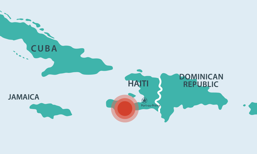 Haiti Earthquake Map - 2001