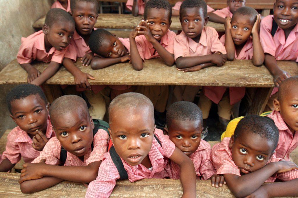 Children at school in Haiti