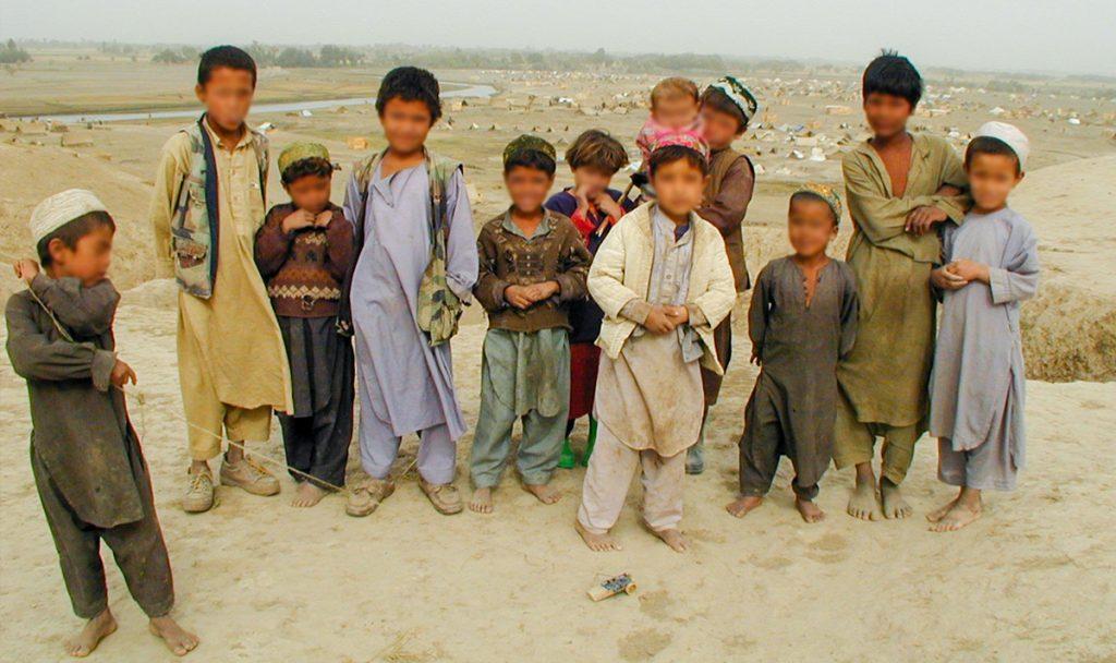 Children living in refugee camp in Afghanistan