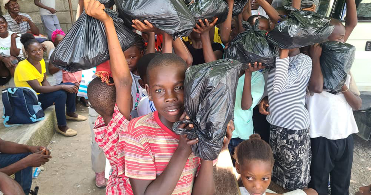 Food kits are distributed to those most in need