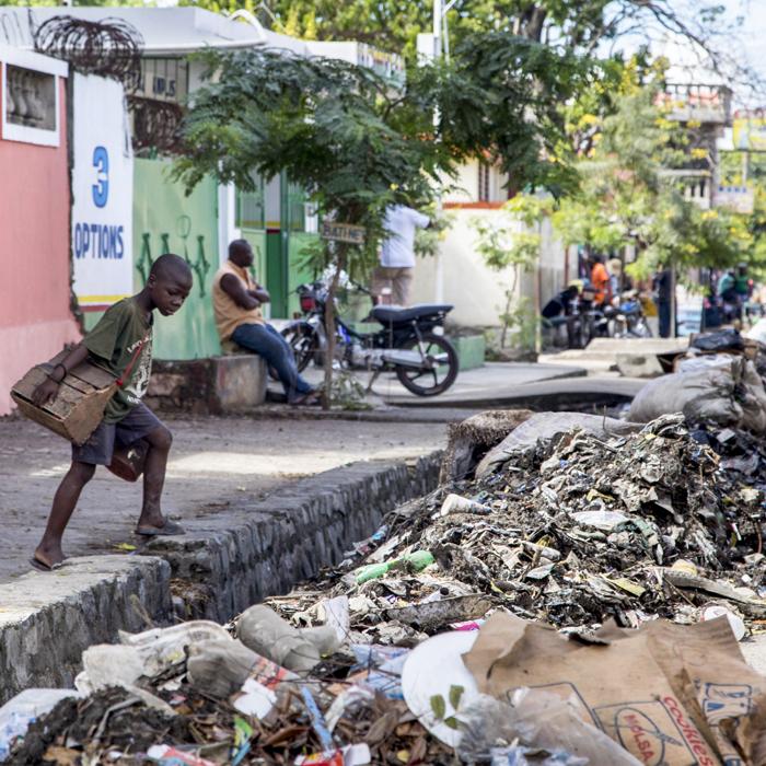Haitian boy - Ouanaminthe slum